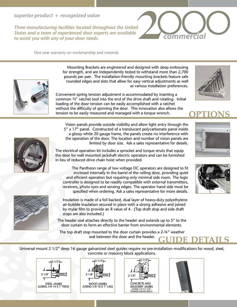 Janus Model 2000 2000i Commercial Sheet Door Doorworks
