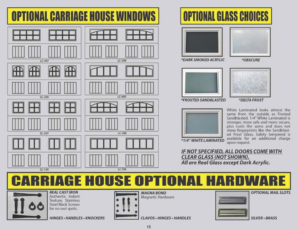 WINDOW AND GLASS CHOICES